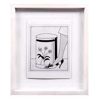 ROY LICHTENSTEIN Sin título Sin firma Litografía offset edición de 180 ejemplares Enmarcada 48.5 x 41 cm con marco