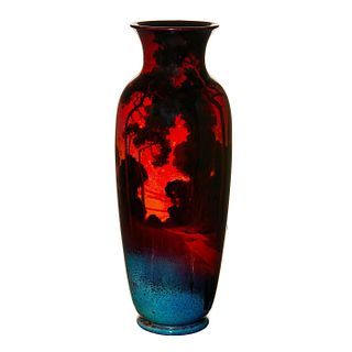Royal Doulton Sung Flambe Exhibition Vase, Landscape