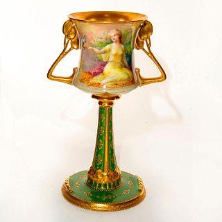 Royal Doulton George White Art Nouveau Twin Handle Vase