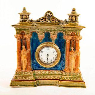 George Tinworth Large Stoneware Mantel Clock