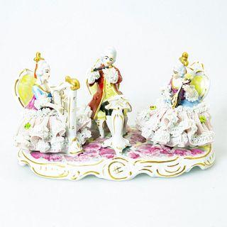 Dresden Art Porcelain Figural, Musical Trio