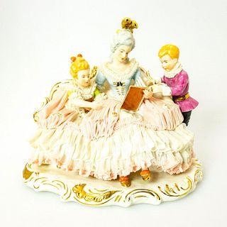 Dresden Art Porcelain Figural, Story Time