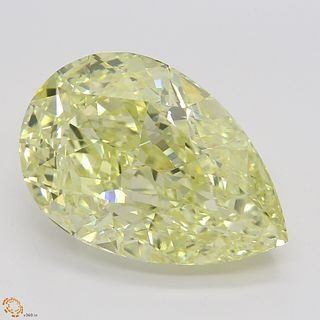 8.54 ct, Natural Fancy Light Yellow Even Color, VVS1, Pear cut Diamond (GIA Graded), Unmounted, Appraised Value: $269,800