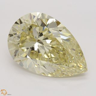 10.18 ct, Natural Fancy Light Brownish Yellow Even Color, VS1, Pear cut Diamond (GIA Graded), Unmounted, Appraised Value: $322,600