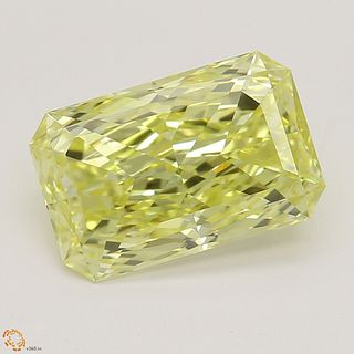 1.58 ct, Natural Fancy Intense Yellow Even Color, VVS2, Radiant cut Diamond (GIA Graded), Unmounted, Appraised Value: $46,700