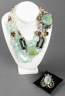 Iradj Moini Aquamarine, Agate & Citrine Necklace