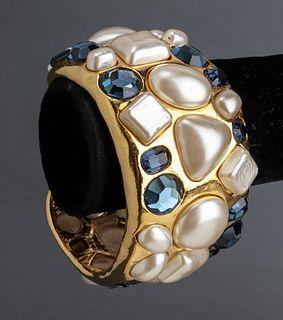 Chanel Cuff w Faux Stones