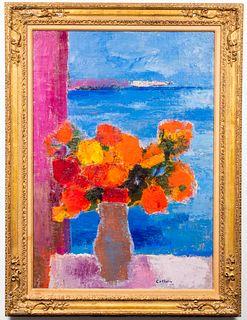 """Bernard Cathelin """"Bouquet de Vera Cruz"""" Oil, 1964"""
