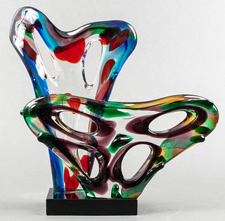 Large Murano Art Glass Modern Free-Form Sculpture