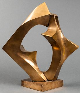 "Deborah Stern ""Coming Together"" Bronze Sculpture"