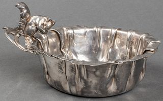"Chinese Export Silver ""Squirrel"" Bowl"