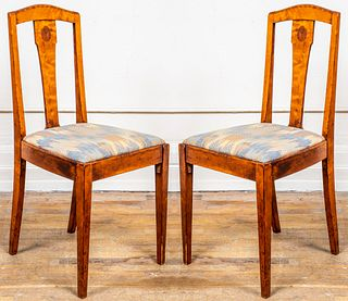 Aesthetic Movement Armorial Side Chairs, Pair