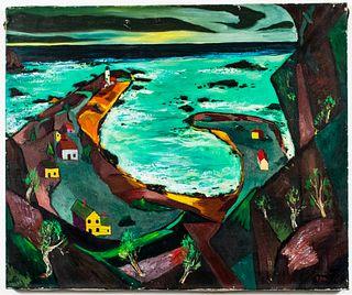"Revington Arthur ""White Sea"" Oil on Canvas"