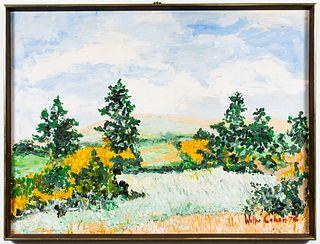 Willie Cohen Impressionist Landscape Oil on Canvas