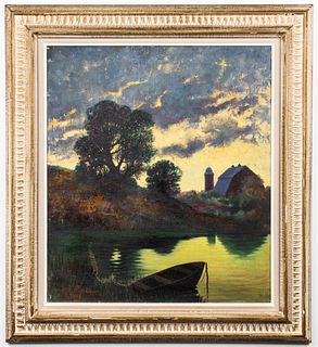 "Maximilian Rasko ""Pennsylvania Barn"" Oil on Canvas"
