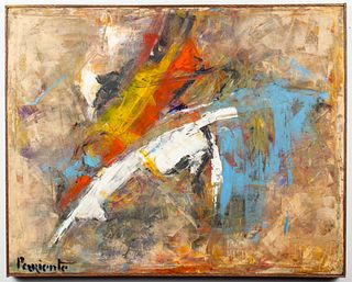 Abraham Pariente Modern Abstract Oil on Canvas