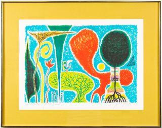 Yohanan Simon Modern Landscape Lithograph