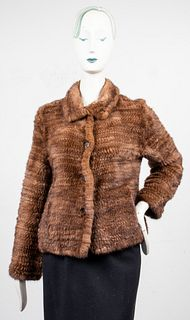 Trilogy Knitted Rabbit Fur Coat