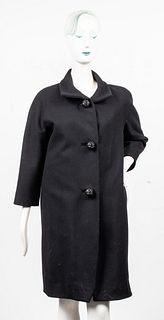 Balenciaga Black Wool Coat