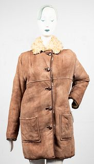 Antartex Scottish Curly Lamb Fur Shearling Coat