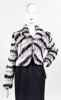 Adrienne Landau Rex Rabbit Fur Bolero Jacket