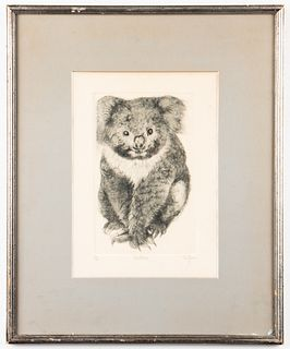 "Christine McGinnis ""Kinkajou"" Etching on Paper"