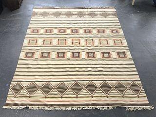 "Geometric Woven Carpet 11' 7"" x 8' 11"""