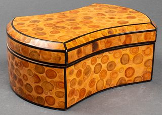 Modern Burl Veneer Covered Dresser Box