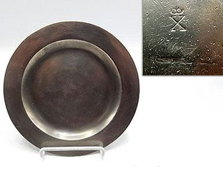 """18th Century English 7 1/4"""" Pewter Plate"""
