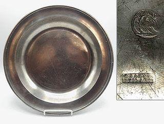 """13"""" Pewter Dish by Blakeslee Barnes"""