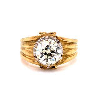 18k Diamond Men Engagement Ring