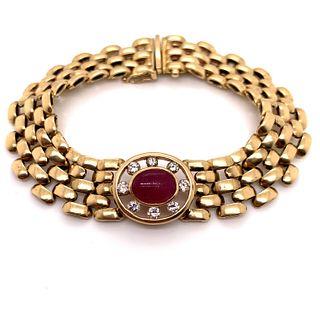 14k Ruby Diamonds Bracelet