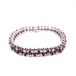 14K Diamond & Ruby Bracelet