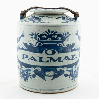 CHINESE BLUE & WHITE PORCELAIN APOTHECARY URN