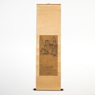 AFTER TIEN SCHU, RIVER SCENE SCROLL PAINTING