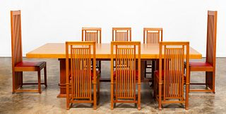 FRANK LLOYD WRIGHT / CASSINA DINING TABLE & CHAIRS