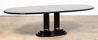 HENREDON ASIAN STYLE LACQUERED DINING TABLE