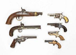 GROUP OF SEVEN AMERICAN & EUROPEAN GUNS