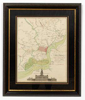 1777, MAP OF CITY OF PHILADELPHIA, MATHIAS LOTTER