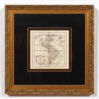 18TH C. JEAN-BAPTISTE NOLIN, MAP OF THE AMERICAS