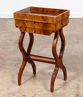 19TH C. CONTINENTAL WALNUT WORK TABLE