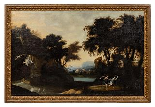CONTINENTAL, OIL ON CANVAS, LANDSCAPE, 18TH C