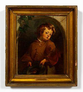 CHRISTIAN SCHUSSELE, PORTRAIT OF BOY, 1855
