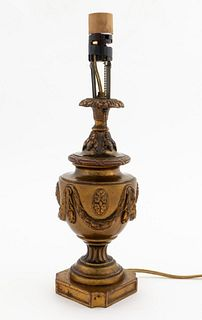 20TH C. NEOCLASSICAL STYLE BRONZE LAMP