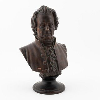 BUST OF GOETHE, PAINTED TERRACOTTA, 19TH C.