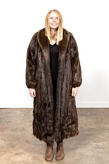 FULL LENGTH LADIES FUR COAT, LIKELY MINK