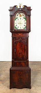 E. 19TH C. ENGLISH GEORGE III LONGCASE CASE CLOCK