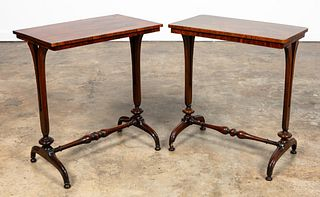 TWO REGENCY STYLE STANDS IN ROSEWOOD & MAHOGANY