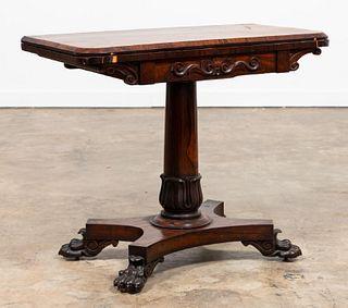 REGENCY ROSEWOOD GAMES TABLE, C. 1820
