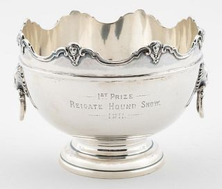 1908, CHESTER, STERLING MONTEITH DOG SHOW TROPHY